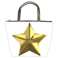 Stars Gold Color Transparency Bucket Bags