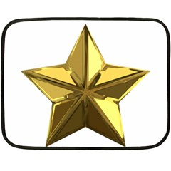 Stars Gold Color Transparency Double Sided Fleece Blanket (mini)