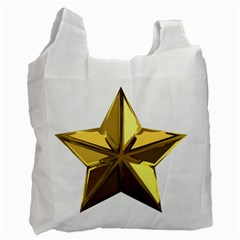 Stars Gold Color Transparency Recycle Bag (Two Side)