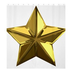 Stars Gold Color Transparency Shower Curtain 66  X 72  (large)