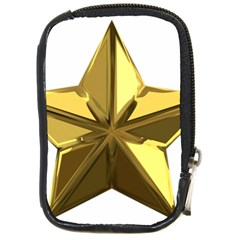 Stars Gold Color Transparency Compact Camera Cases