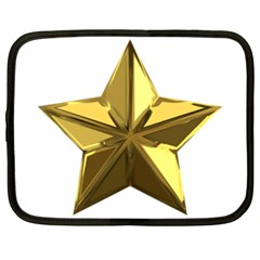 Stars Gold Color Transparency Netbook Case (xl)