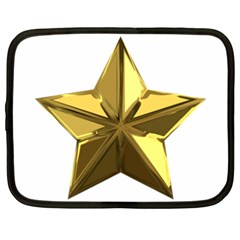 Stars Gold Color Transparency Netbook Case (xxl)