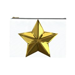 Stars Gold Color Transparency Cosmetic Bag (large)