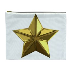 Stars Gold Color Transparency Cosmetic Bag (xl)