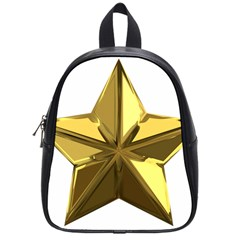 Stars Gold Color Transparency School Bags (small)