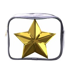 Stars Gold Color Transparency Mini Toiletries Bags