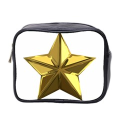 Stars Gold Color Transparency Mini Toiletries Bag 2-Side