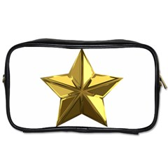 Stars Gold Color Transparency Toiletries Bags 2-Side