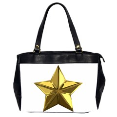 Stars Gold Color Transparency Office Handbags (2 Sides)