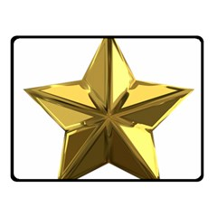 Stars Gold Color Transparency Fleece Blanket (Small)