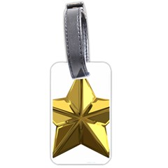 Stars Gold Color Transparency Luggage Tags (one Side)