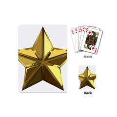 Stars Gold Color Transparency Playing Cards (mini)