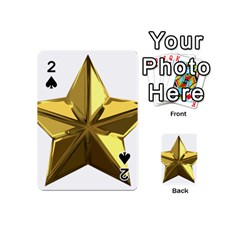 Stars Gold Color Transparency Playing Cards 54 (mini)