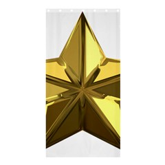 Stars Gold Color Transparency Shower Curtain 36  X 72  (stall)