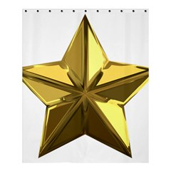 Stars Gold Color Transparency Shower Curtain 60  X 72  (medium)