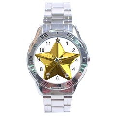 Stars Gold Color Transparency Stainless Steel Analogue Watch