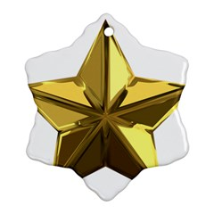 Stars Gold Color Transparency Snowflake Ornament (Two Sides)
