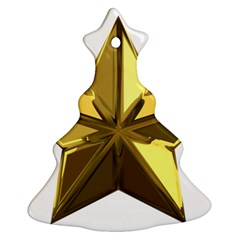 Stars Gold Color Transparency Christmas Tree Ornament (Two Sides)