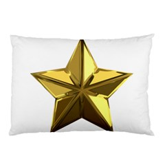 Stars Gold Color Transparency Pillow Case (two Sides)