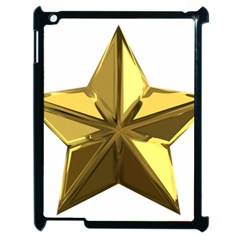 Stars Gold Color Transparency Apple iPad 2 Case (Black)