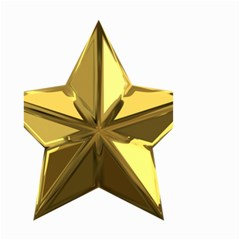 Stars Gold Color Transparency Small Garden Flag (two Sides)