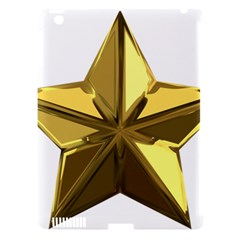 Stars Gold Color Transparency Apple Ipad 3/4 Hardshell Case (compatible With Smart Cover)