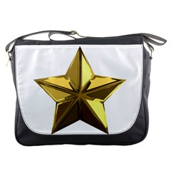 Stars Gold Color Transparency Messenger Bags