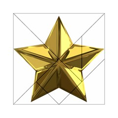Stars Gold Color Transparency Acrylic Tangram Puzzle (6  x 6 )
