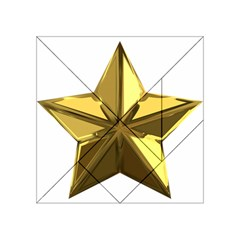 Stars Gold Color Transparency Acrylic Tangram Puzzle (4  X 4 )