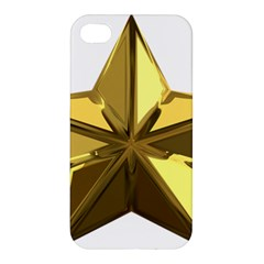 Stars Gold Color Transparency Apple Iphone 4/4s Premium Hardshell Case