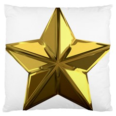 Stars Gold Color Transparency Large Cushion Case (one Side)