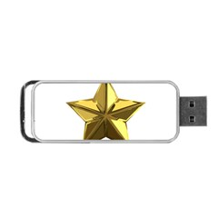 Stars Gold Color Transparency Portable Usb Flash (one Side)