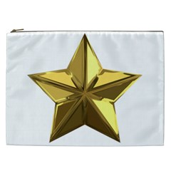 Stars Gold Color Transparency Cosmetic Bag (xxl)