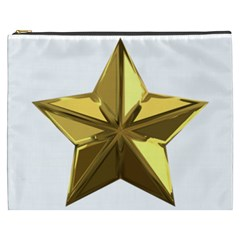 Stars Gold Color Transparency Cosmetic Bag (xxxl)