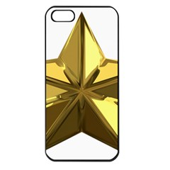 Stars Gold Color Transparency Apple Iphone 5 Seamless Case (black)