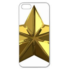 Stars Gold Color Transparency Apple Seamless iPhone 5 Case (Clear)