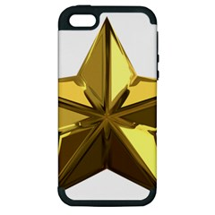 Stars Gold Color Transparency Apple Iphone 5 Hardshell Case (pc+silicone)