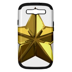 Stars Gold Color Transparency Samsung Galaxy S Iii Hardshell Case (pc+silicone)