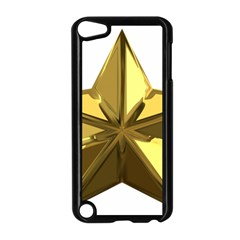 Stars Gold Color Transparency Apple Ipod Touch 5 Case (black)