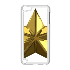 Stars Gold Color Transparency Apple Ipod Touch 5 Case (white)