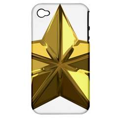Stars Gold Color Transparency Apple iPhone 4/4S Hardshell Case (PC+Silicone)