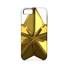 Stars Gold Color Transparency Apple Iphone 5 Classic Hardshell Case (pc+silicone)