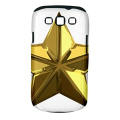 Stars Gold Color Transparency Samsung Galaxy S III Classic Hardshell Case (PC+Silicone)