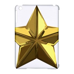 Stars Gold Color Transparency Apple Ipad Mini Hardshell Case (compatible With Smart Cover)