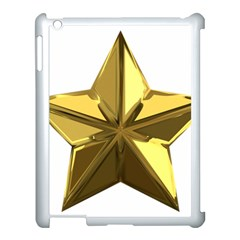 Stars Gold Color Transparency Apple Ipad 3/4 Case (white)