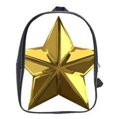 Stars Gold Color Transparency School Bags (XL)