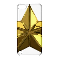 Stars Gold Color Transparency Apple Ipod Touch 5 Hardshell Case With Stand