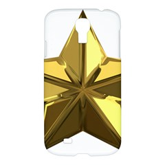 Stars Gold Color Transparency Samsung Galaxy S4 I9500/i9505 Hardshell Case