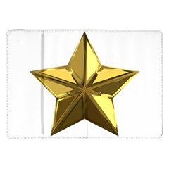 Stars Gold Color Transparency Samsung Galaxy Tab 8 9  P7300 Flip Case